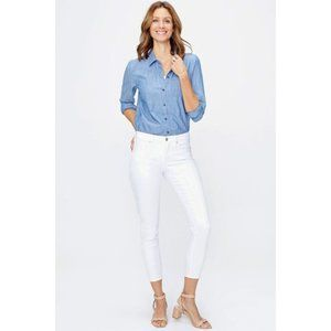nydj ami skinny ankle cool embrace womens jeans 12
